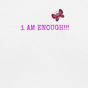 iamenough5 - Women's V-Neck T-Shirt