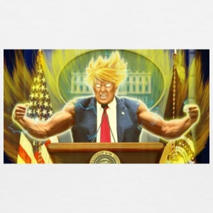 Donald Trump goes Super Saiyan - Women's V-Neck T-Shirt