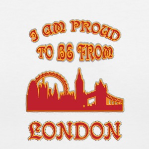 London I am proud to be from - Women's V-Neck T-Shirt