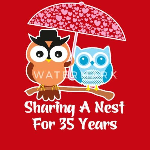 35 Years Wedding Anniversary Gifts Presents By Ilovemytshirt Spreadshirt