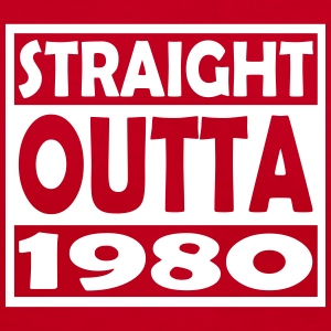 37th Birthday T Shirt Straight Outta 1980 - Women's V-Neck T-Shirt