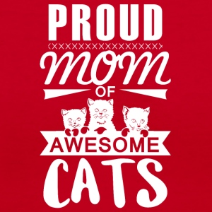 Mom of awesome cats - Women's V-Neck T-Shirt