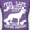 Feel safe -- sleep with a German shepherd - Women's V-Neck T-Shirt