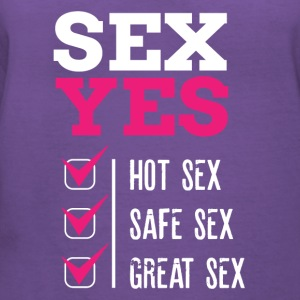 SEX YES HOT SEX SAFE SEX GREAT SEX - Women's V-Neck T-Shirt