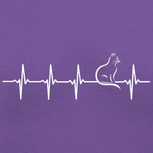 Cat - Heartbeat - Women's V-Neck T-Shirt