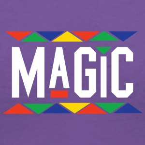 Magic - Tribal Design (White Letters) - Women's V-Neck T-Shirt