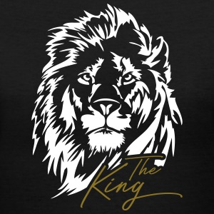 Lion The King - Women's V-Neck T-Shirt