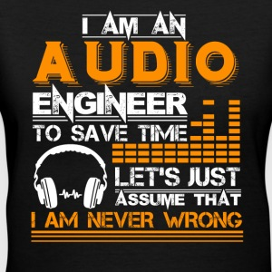 Audio Engineer Tee Shirt - Women's V-Neck T-Shirt