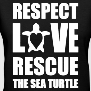 Love Rescue Sea Turtle Shirt - Women's V-Neck T-Shirt