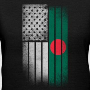 Bangladeshi American Flag - Women's V-Neck T-Shirt