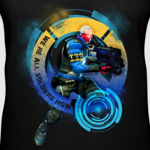 Overwatch: Soldier 76 - Women's V-Neck T-Shirt