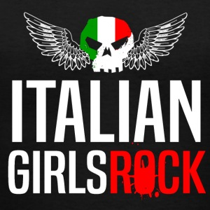 ITALIAN GIRLS ROCK - Women's V-Neck T-Shirt