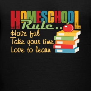 FUN HOMESCHOOL RULES SHIRT - Women's V-Neck T-Shirt
