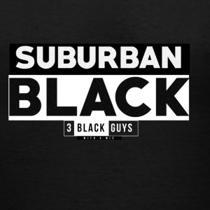 SUBURBAN BLACK - Women's V-Neck T-Shirt