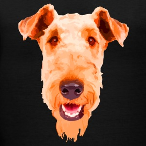 Airedale Terrier Shirt - Women's V-Neck T-Shirt