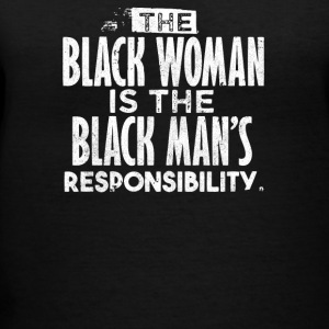 BLACK WOMAN IS THE BLACK MAN - Women's V-Neck T-Shirt