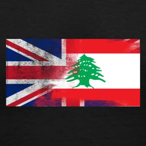 British Lebanese Half Lebanon Half UK Flag - Women's V-Neck T-Shirt
