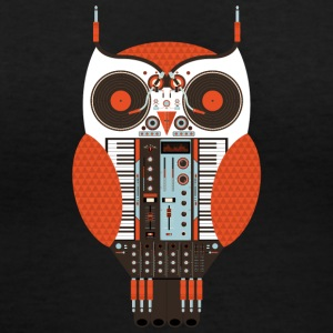 Owl DJ - Women's V-Neck T-Shirt