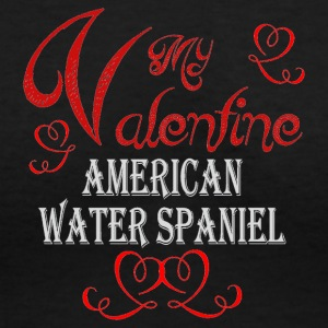 A romantic Valentine withmy American Water Spaniel - Women's V-Neck T-Shirt