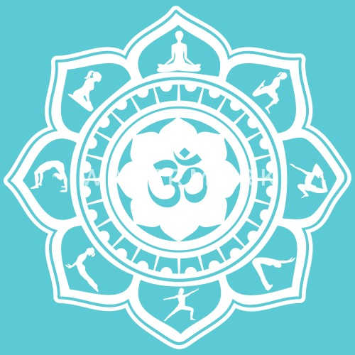 Yoga om lotus flower by ethos wear spreadshirt mightylinksfo