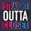 Straight Outta Closet Parody Bisexual Pride LGBT - Women's V-Neck T-Shirt