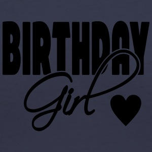 Birthday Girl with heart - Women's V-Neck T-Shirt