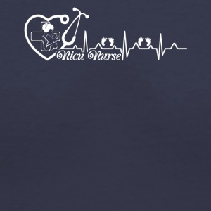 Nicu Nurse Heartbeat Shirt - Women's V-Neck T-Shirt