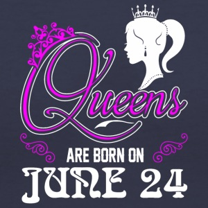 Queens are born on JUNE 24 - Women's V-Neck T-Shirt