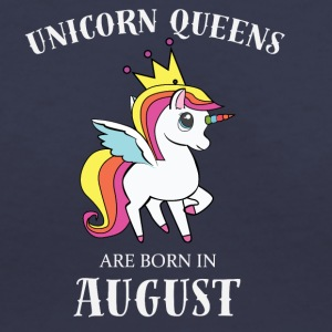 UNICORN QUEENS BORN IN AUGUST - Women's V-Neck T-Shirt