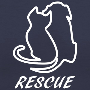 Rescue white - Women's V-Neck T-Shirt