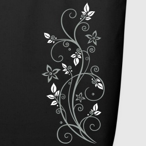 Filigree tendril with leaves and flowers. - Eco-Friendly Cotton Tote
