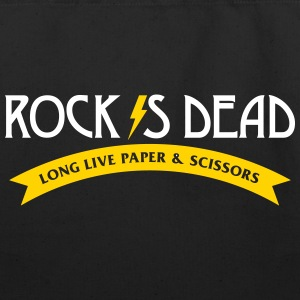 Rock Is Dead! Long Live Paper And Scissors. - Eco-Friendly Cotton Tote