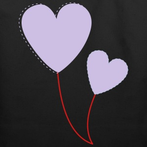 hearts balloons - Eco-Friendly Cotton Tote