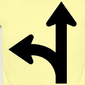 Road signs series - go straight or left - Short Sleeve Baby Bodysuit