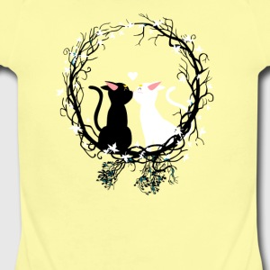 Circle cats - Short Sleeve Baby Bodysuit