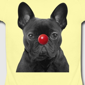 Red Nose Day Frenchie - Short Sleeve Baby Bodysuit