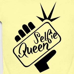 Selfie_Queen - Short Sleeve Baby Bodysuit