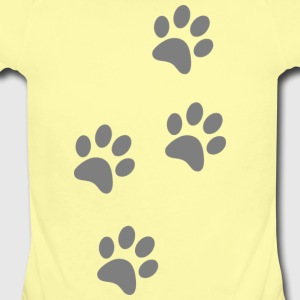 4 paw prints - Short Sleeve Baby Bodysuit