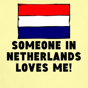 Someone In Netherlands Loves Me! - Short Sleeve Baby Bodysuit
