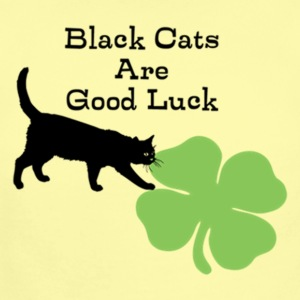 Black Cats are Good Luck - Short Sleeve Baby Bodysuit