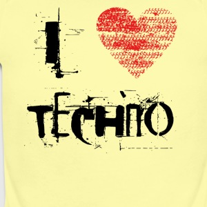 I love techno rave goa hardtek schwarz - Short Sleeve Baby Bodysuit