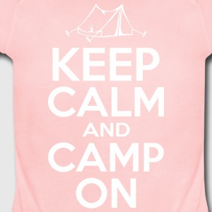 Keep Calm And Camp On - Short Sleeve Baby Bodysuit