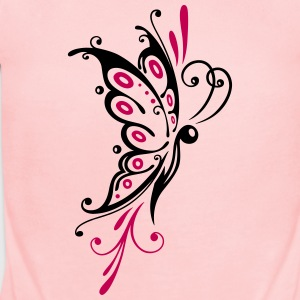 Big filigree butterfly, wings, girlie Tattoo style - Short Sleeve Baby Bodysuit