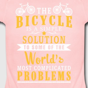 The Bicycle is a Simple - Short Sleeve Baby Bodysuit