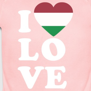 I love Hungary - Short Sleeve Baby Bodysuit
