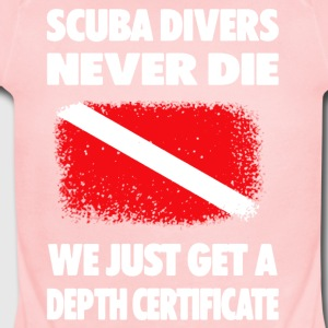 Scuba Diving Depth Certificate Tee Shirts - Short Sleeve Baby Bodysuit