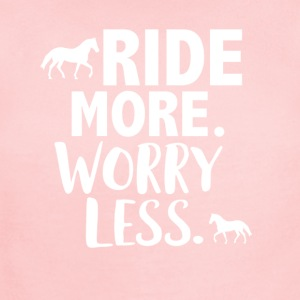 Ride more worry less - Short Sleeve Baby Bodysuit