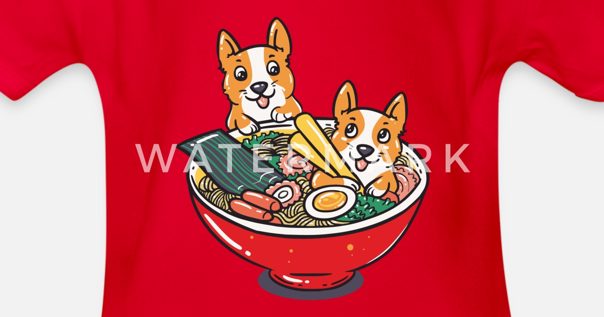 dbefd5459e16 Funny Kawaii Corgi Dogs Ramen Bowl Gift Idea Organic Short-Sleeved Baby  Bodysuit | Spreadshirt