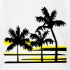 Palm Trees Surfer Caribbean Hawaii - Organic Short Sleeve Baby Bodysuit