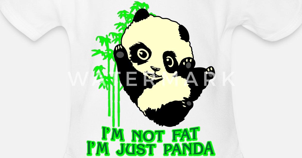 Panda Bear Thick Comic Present Slim Fun Fat Joke Organic Short Sleeved Baby Bodysuit Spreadshirt